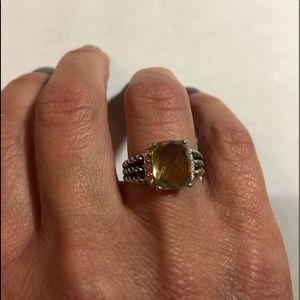 David Yurman Wheaton Citrine Ring Sz 5